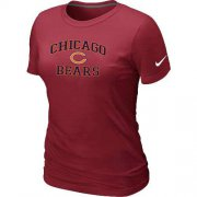 Wholesale Cheap Women's Nike Chicago Bears Heart & Soul NFL T-Shirt Red