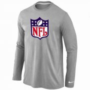Wholesale Cheap Nike NFL Logos Long Sleeve T-Shirt Grey