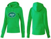 Wholesale Cheap Women's New York Jets Logo Pullover Hoodie Green