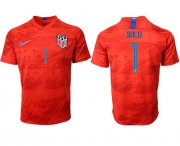 Wholesale Cheap USA #1 Solo Away Soccer Country Jersey