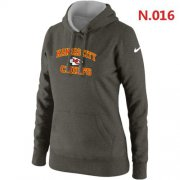 Wholesale Cheap Women's Nike Kansas City Chiefs Heart & Soul Pullover Hoodie Dark Grey