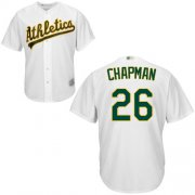 Wholesale Cheap Athletics #26 Matt Chapman White New Cool Base Stitched MLB Jersey