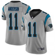 Wholesale Cheap Nike Panthers #11 Robby Anderson Silver Youth Stitched NFL Limited Inverted Legend Jersey