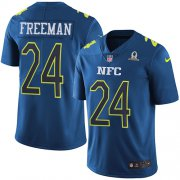 Wholesale Cheap Nike Falcons #24 Devonta Freeman Navy Men's Stitched NFL Limited NFC 2017 Pro Bowl Jersey