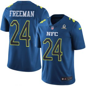 Wholesale Cheap Nike Falcons #24 Devonta Freeman Navy Men\'s Stitched NFL Limited NFC 2017 Pro Bowl Jersey