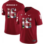 Wholesale Cheap Washington State Cougars 16 Gardner Minshew II Red Fashion College Football Jersey