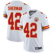 Wholesale Cheap Nike Chiefs #42 Anthony Sherman White Youth Stitched NFL Vapor Untouchable Limited Jersey