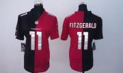 Wholesale Cheap Nike Cardinals #11 Larry Fitzgerald Black/Red Women's Stitched NFL Elite Split Jersey