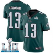Wholesale Cheap Nike Eagles #13 Nelson Agholor Midnight Green Team Color Super Bowl LII Men's Stitched NFL Vapor Untouchable Limited Jersey