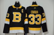 Wholesale Cheap Adidas Bruins #33 Zdeno Chara Black 2019-20 Authentic Third Stitched NHL Jersey