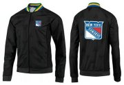 Wholesale Cheap NHL New York Rangers Zip Jackets Black-2
