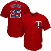 Wholesale Cheap Twins #25 Byron Buxton Red Cool Base Stitched Youth MLB Jersey
