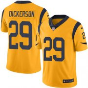 Wholesale Cheap Nike Rams #29 Eric Dickerson Gold Youth Stitched NFL Limited Rush Jersey
