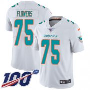 Wholesale Cheap Nike Dolphins #75 Ereck Flowers White Youth Stitched NFL 100th Season Vapor Untouchable Limited Jersey