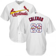 Wholesale Cheap Cardinals #29 Vince Coleman White Team Logo Fashion Stitched MLB Jersey