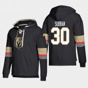 Wholesale Cheap Vegas Golden Knights #30 Malcolm Subban Black adidas Lace-Up Pullover Hoodie