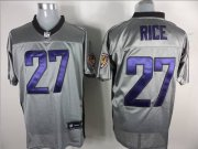 Wholesale Cheap Ravens #27 Ray Rice Grey Shadow Stitched NFL Jersey