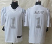 Wholesale Cheap Nike Colts #1 Pat McAfee White Men's Stitched NFL Limited Platinum Jersey