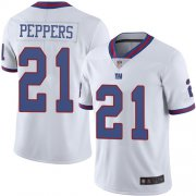 Wholesale Cheap Nike Giants #21 Jabrill Peppers White Men's Stitched NFL Limited Rush Jersey