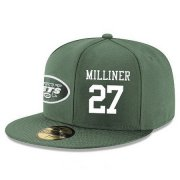 Wholesale Cheap New York Jets #27 Dee Milliner Snapback Cap NFL Player Green with White Number Stitched Hat