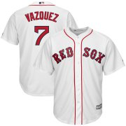 Wholesale Cheap Boston Red Sox #7 Christian Vazquez Majestic Home Cool Base Player Jersey White
