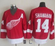 Wholesale Cheap Red Wings #14 Brendan Shanahan Red CCM Throwback Stitched NHL Jersey