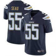 Wholesale Cheap Nike Chargers #55 Junior Seau Navy Blue Team Color Men's Stitched NFL Vapor Untouchable Limited Jersey