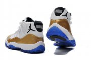 Wholesale Cheap Air Jordan 11 Retro Shoes White/gold-blue