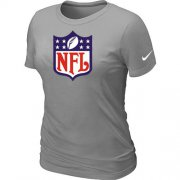 Wholesale Cheap Women's Nike NFL Logo NFL T-Shirt Light Grey