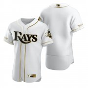 Wholesale Cheap Tampa Bay Rays Blank White Nike Men's Authentic Golden Edition MLB Jersey