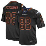 Wholesale Cheap Nike Broncos #88 Demaryius Thomas Lights Out Black Men's Stitched NFL Elite Jersey