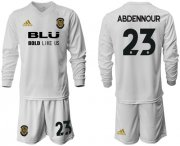 Wholesale Cheap Valencia #23 Abdennour Home Long Sleeves Soccer Club Jersey