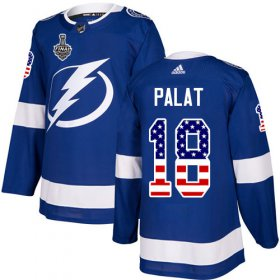 Wholesale Cheap Adidas Lightning #18 Ondrej Palat Blue Home Authentic USA Flag 2020 Stanley Cup Final Stitched NHL Jersey