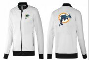 Wholesale Cheap NFL Miami Dolphins Team Logo Jacket White_1