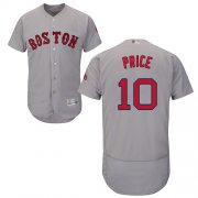 Wholesale Cheap Red Sox #10 David Price Grey Flexbase Authentic Collection Stitched MLB Jersey