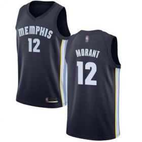 Wholesale Cheap Grizzlies #12 Ja Morant Navy Blue Basketball Swingman Icon Edition Jersey