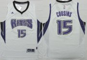 Wholesale Cheap Sacramento Kings #15 DeMarcus Cousins Revolution 30 Swingman 2014 New White Jersey
