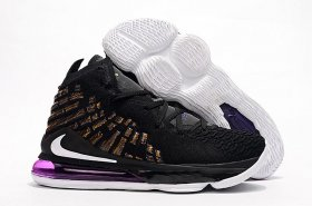 Wholesale Cheap Nike Lebron James 17 Air Cushion Shoes Purple-Golden Dynasty