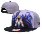 Wholesale Cheap Miami Marlins Snapback Ajustable Cap Hat GS 5