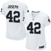 Wholesale Cheap Nike Raiders #42 Karl Joseph White Women's Stitched NFL Elite Jersey