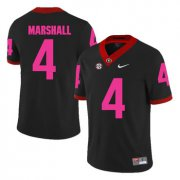 Wholesale Cheap Georgia Bulldogs 4 Keith Marshall Black Breast Cancer Awareness College Football Jersey