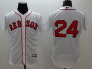 Wholesale Cheap Red Sox #24 David Price White Flexbase Authentic Collection Stitched MLB Jersey