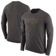 Wholesale Cheap Men's Tampa Bay Buccaneers Nike Pewter Salute to Service Sideline Legend Performance Long Sleeve T-Shirt