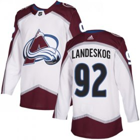 Wholesale Cheap Adidas Avalanche #92 Gabriel Landeskog White Road Authentic Stitched NHL Jersey
