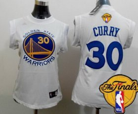 Wholesale Cheap Women\'s Golden State Warriors #30 Stephen Curry White 2016 The NBA Finals Patch Jersey