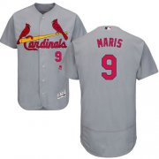 Wholesale Cheap Cardinals #9 Roger Maris Grey Flexbase Authentic Collection Stitched MLB Jersey