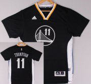 Wholesale Cheap Golden State Warriors #11 Klay Thompson Revolution 30 Swingman 2014 New Black Short-Sleeved Jersey