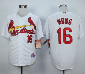 Wholesale Cheap Cardinals #16 Kolten Wong White 1982 Turn Back The Clock Stitched MLB Jersey