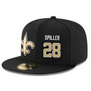 Wholesale Cheap New Orleans Saints #28 B.W. Webb Snapback Cap NFL Player Black with Gold Number Stitched Hat