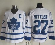 Wholesale Maple Leafs #27 Darryl Sittler White CCM Throwback Stitched NHL Jersey